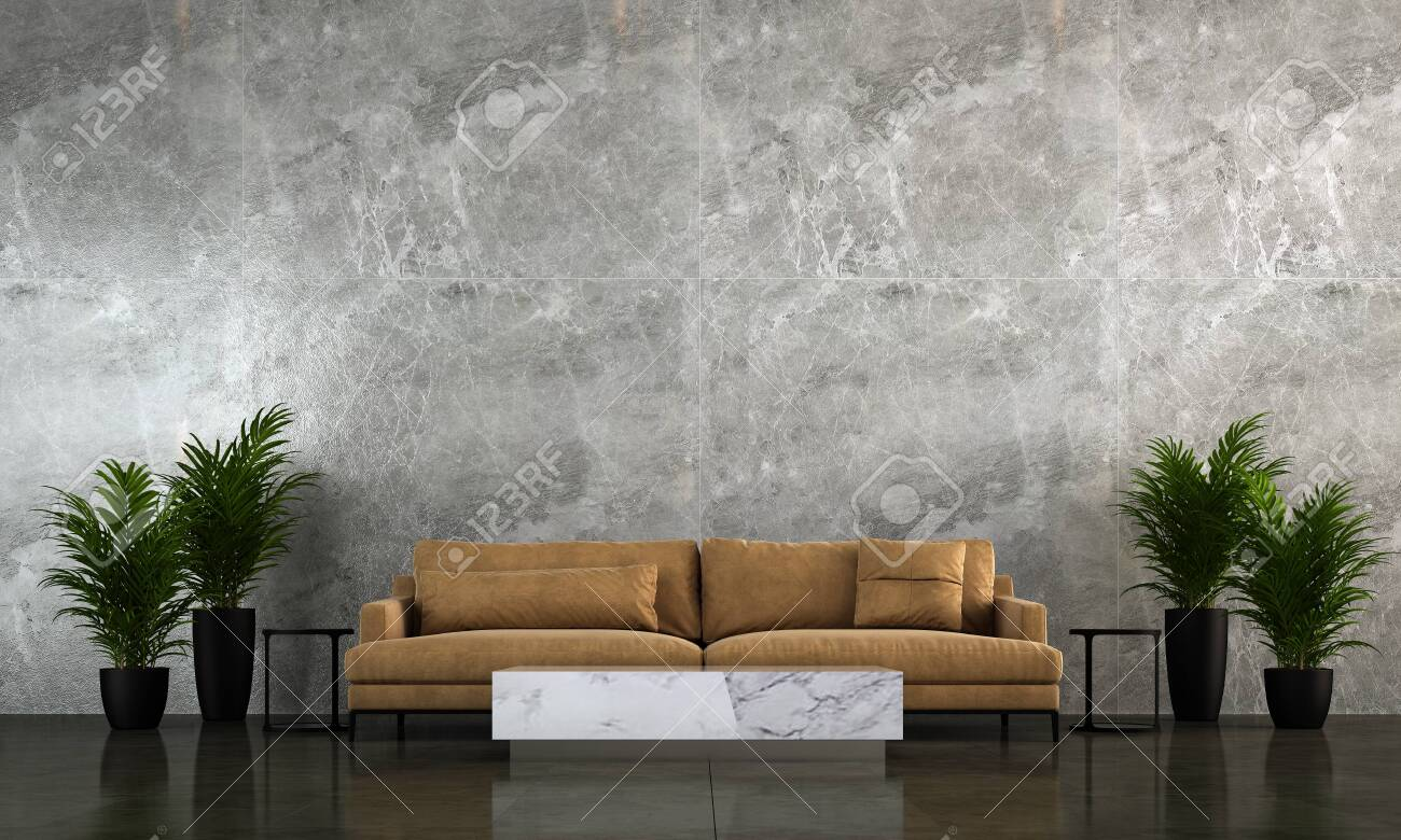 Modern Living Room Interior Design And Marble Wall Texture Background Stock Photo Picture And Royalty Free Image Image 122204172