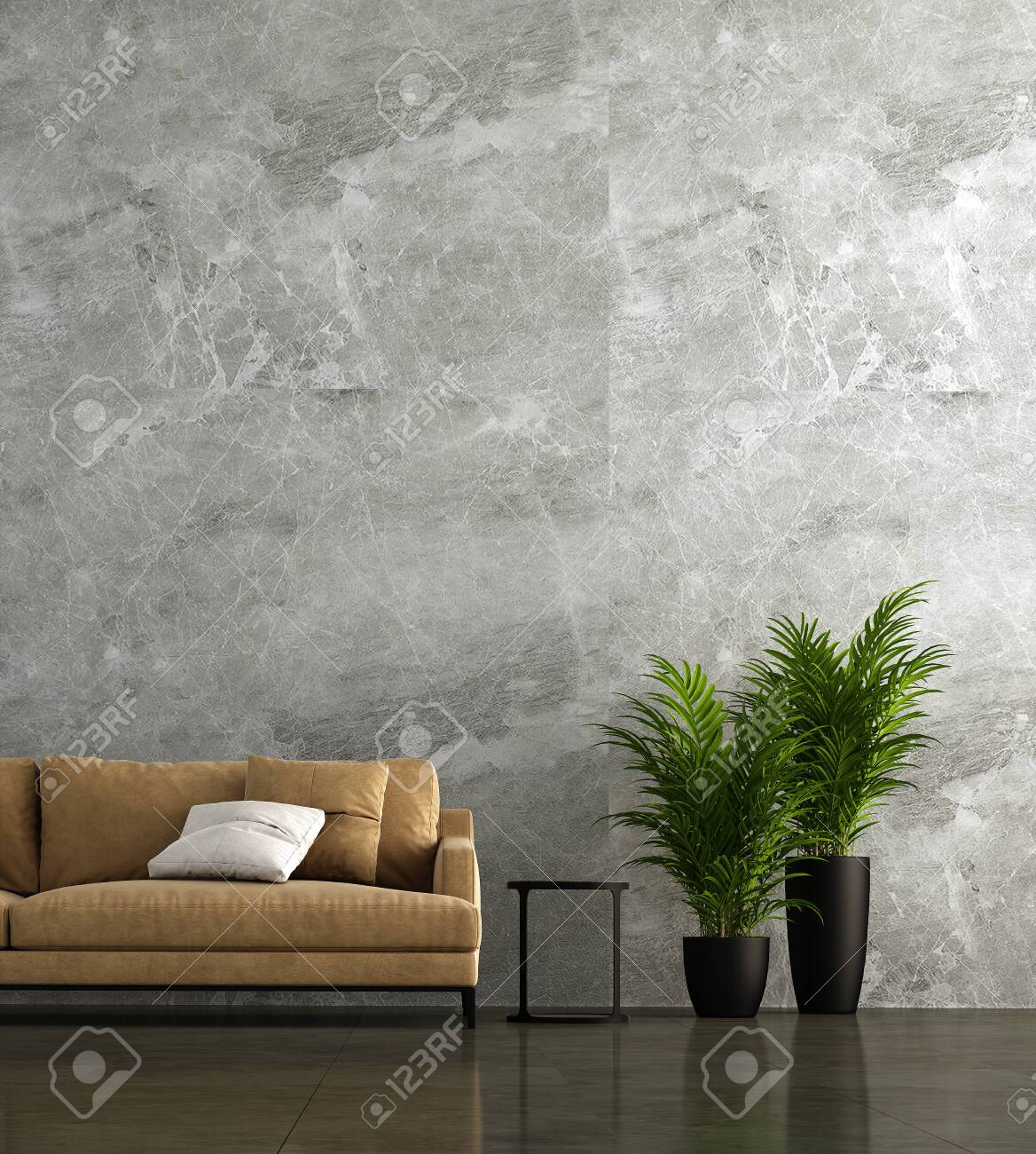 Modern Living Room Interior Design And Marble Wall Texture Background Stock Photo Picture And Royalty Free Image Image 122204173