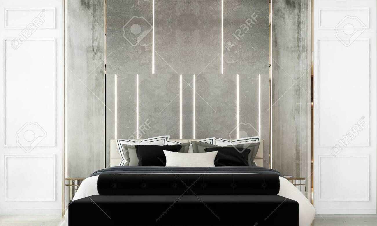Modern Luxury Bedroom Interior Design Stock Photo Picture And Royalty Free Image Image 147556691