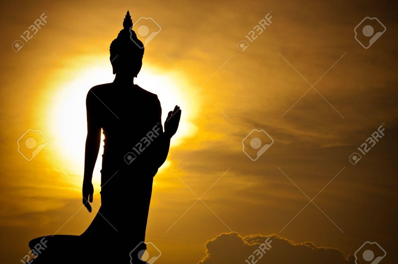silhouette of Buddha statue, Thailand Stock Photo - 7360425