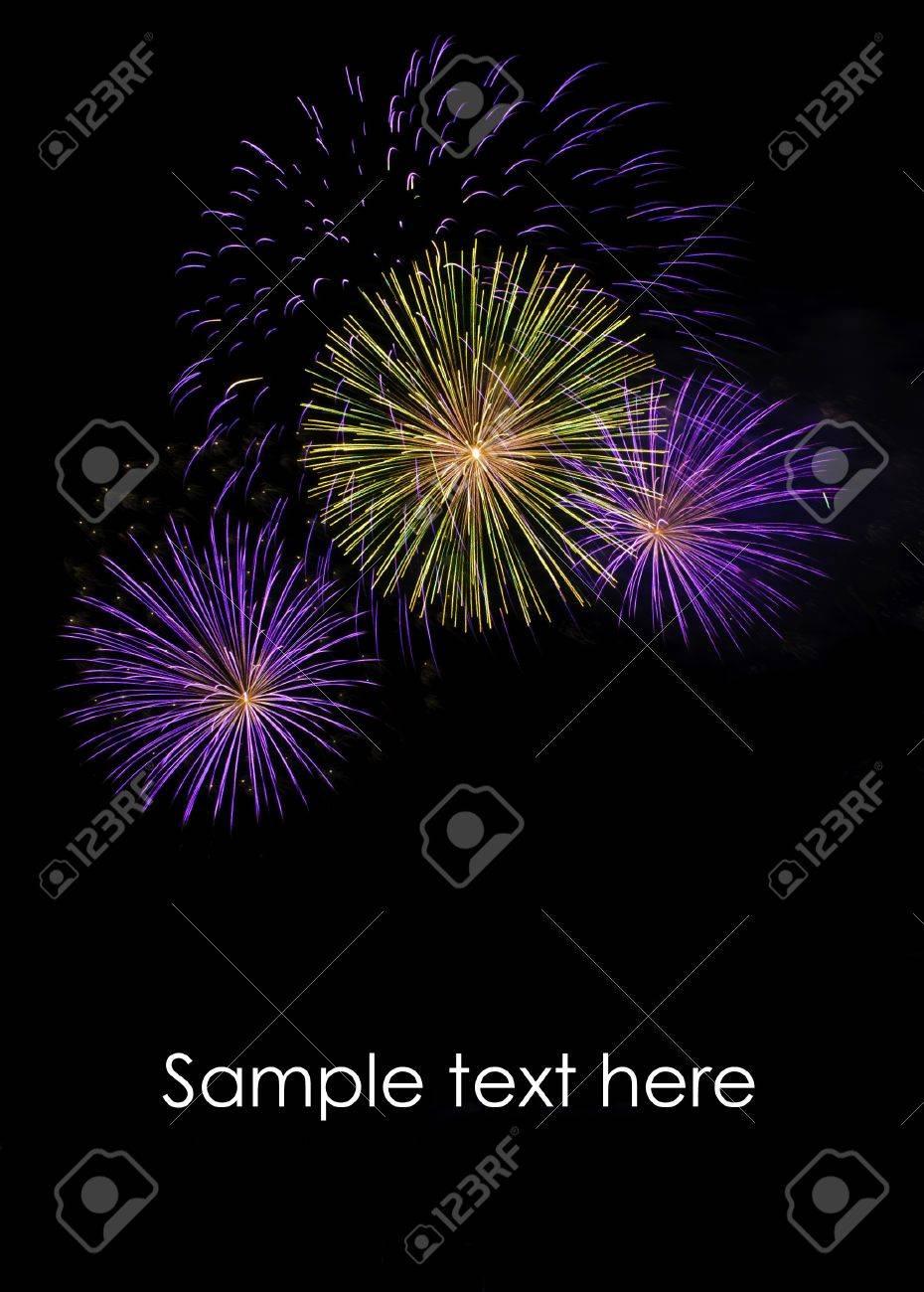Fireworks at Pattaya beach, Thailand Stock Photo - 8285772