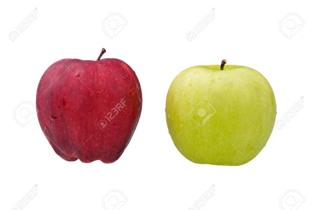 red and green apples isolated on white Stock Photo - 9138008