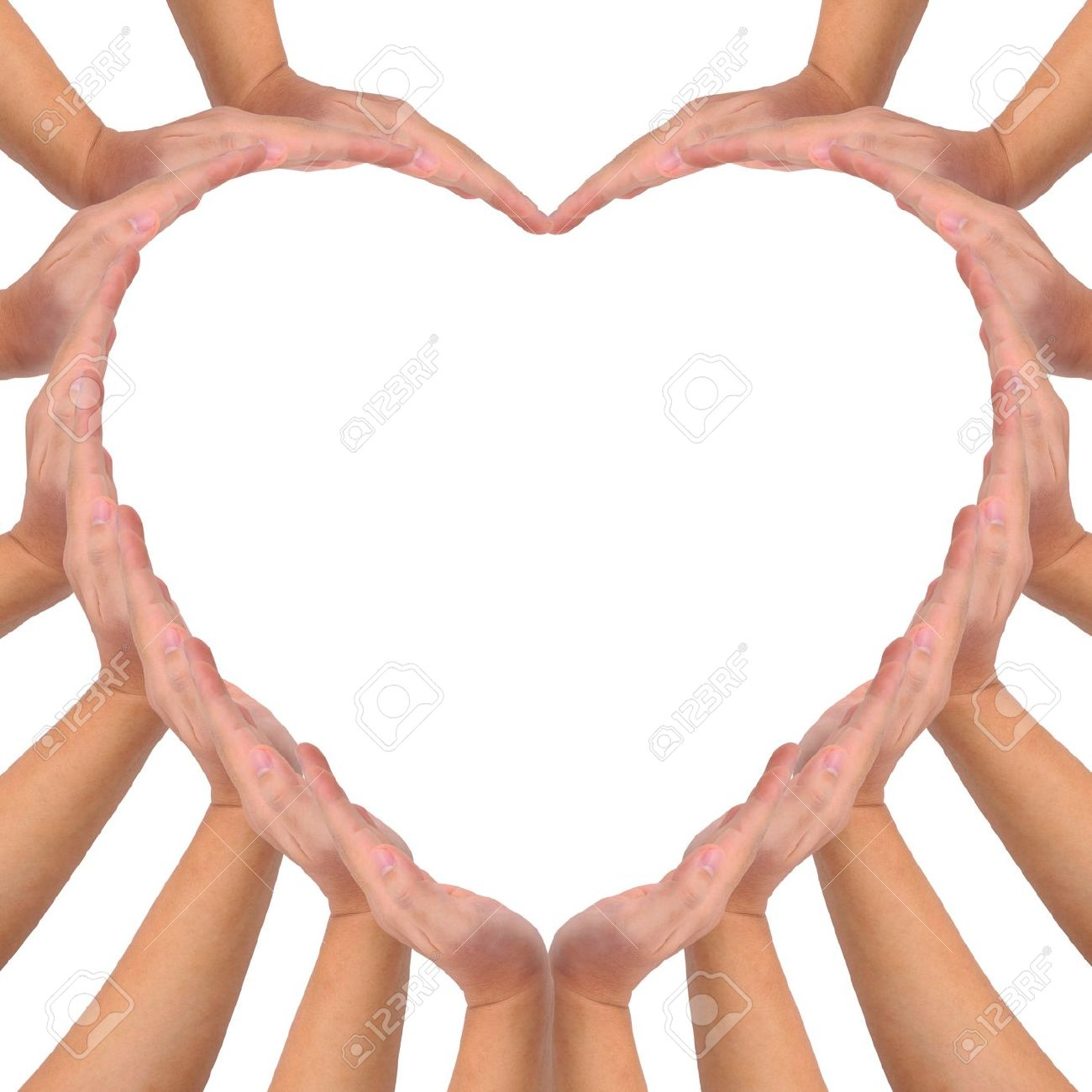 Conceptual symbol of love hands making a heart shape on white conceptual symbol of love hands making a heart shape on white background with a copy biocorpaavc Gallery