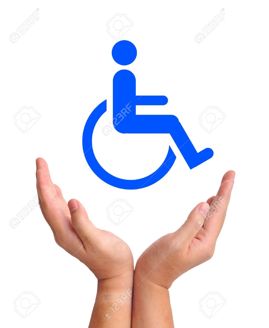Conceptual Image Care For Handicapped Person Two Hands And Stock