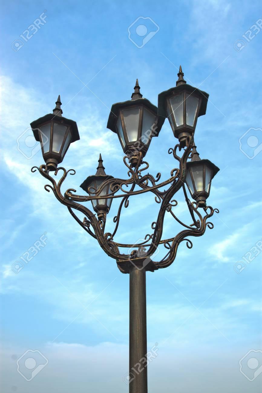 Street lamp on a blue sky background Stock Photo - 8850932