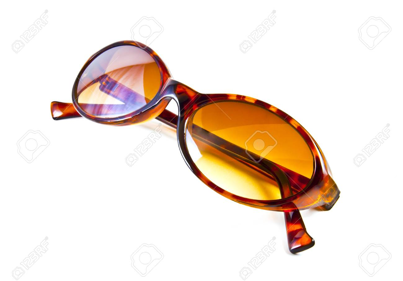 Brown sunglasses isolated on the white background Stock Photo - 10057112