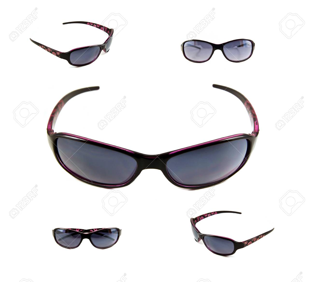 Set of black sunglasses isolated on the white background Stock Photo - 10057121
