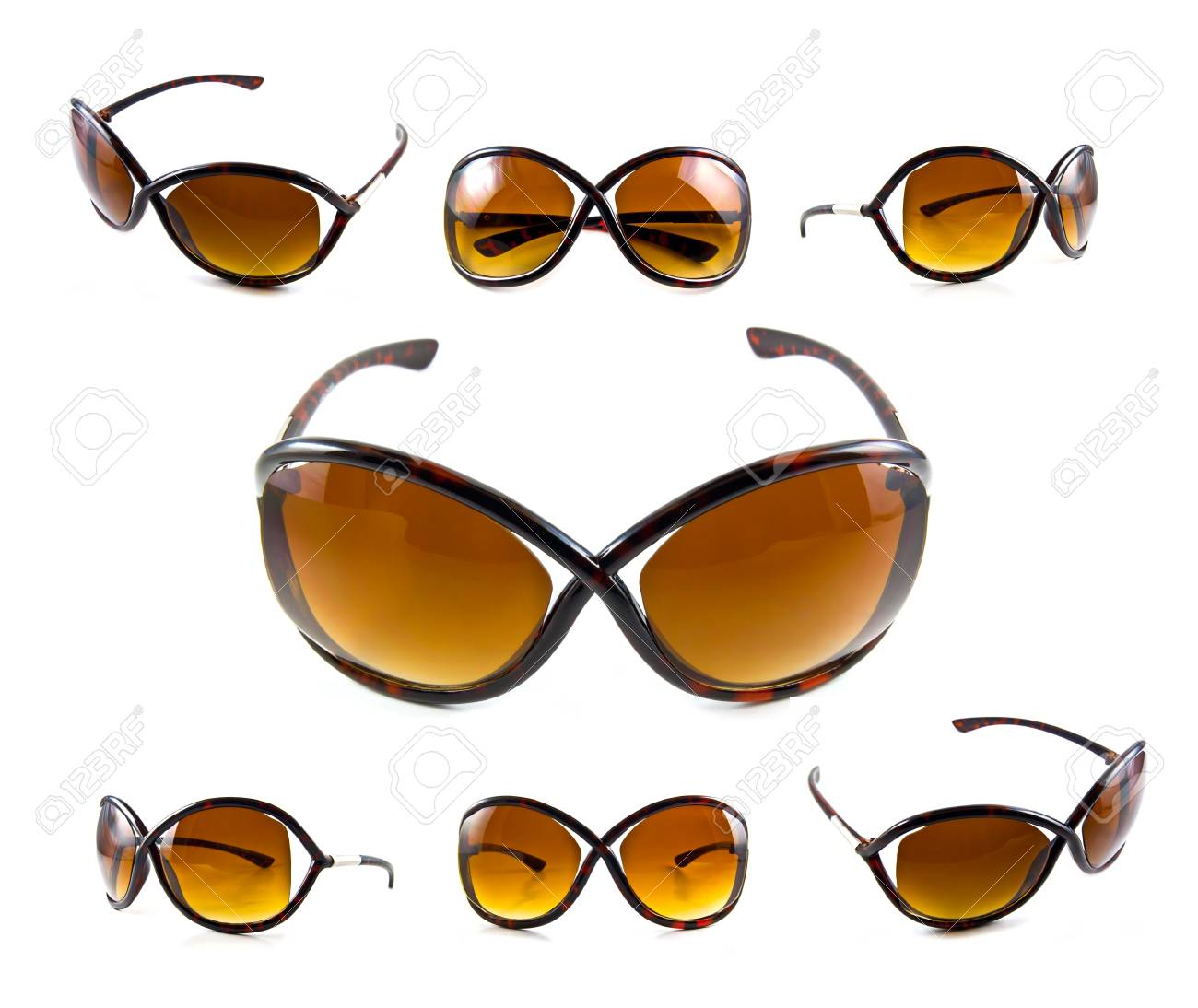 Set of brown sunglasses isolated on the white background Stock Photo - 10057125