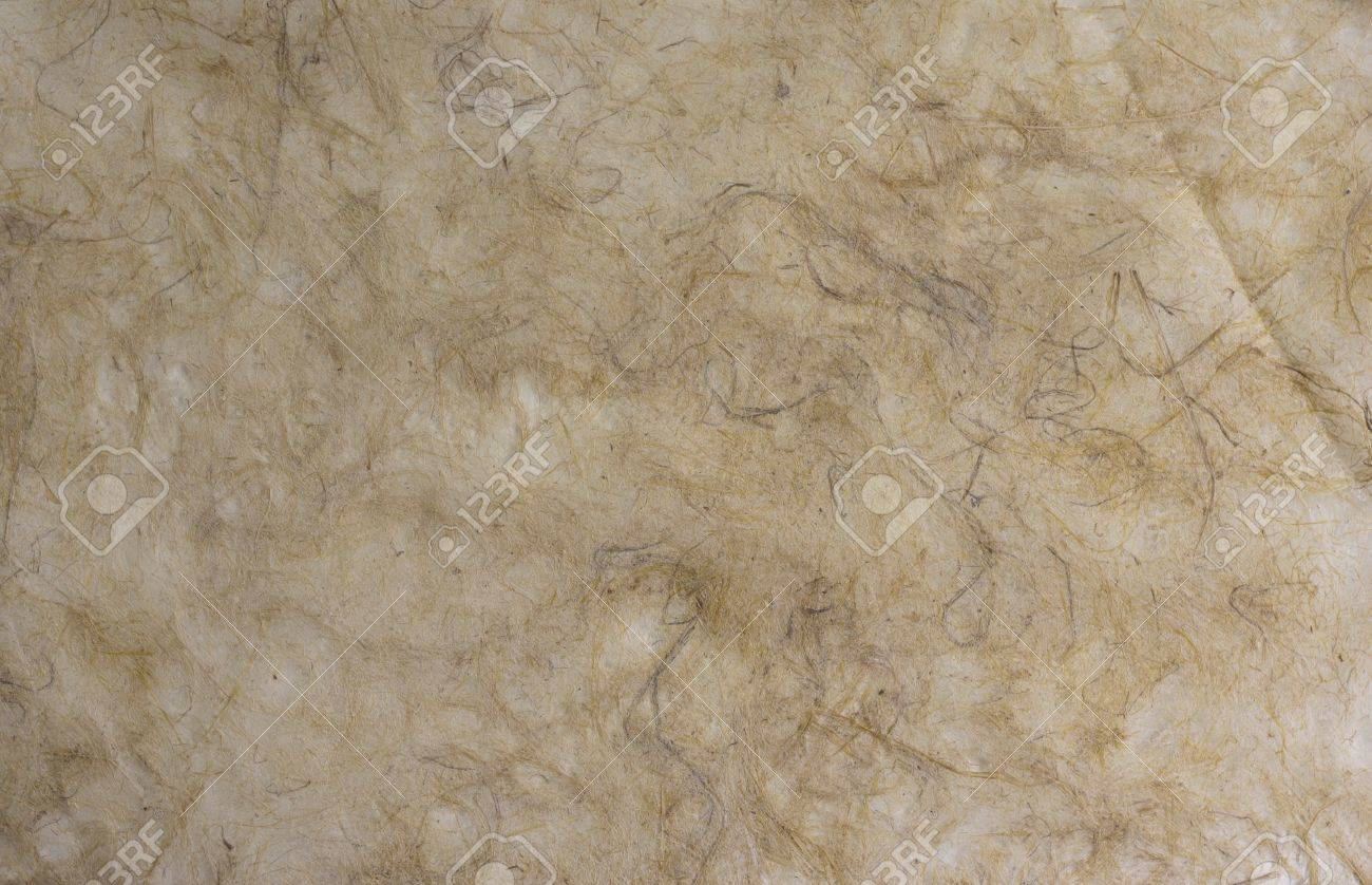 Soft brown mulberry paper with pulp background. Stock Photo - 12898642