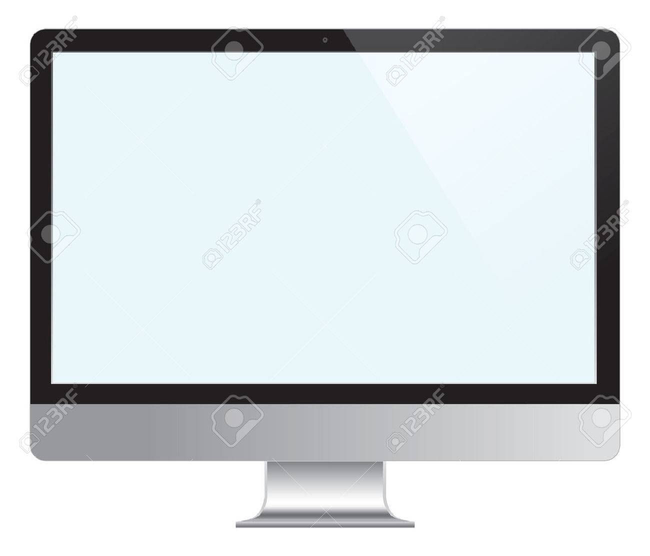 Computer Desktop Monitor, Stock Vector - 22847114