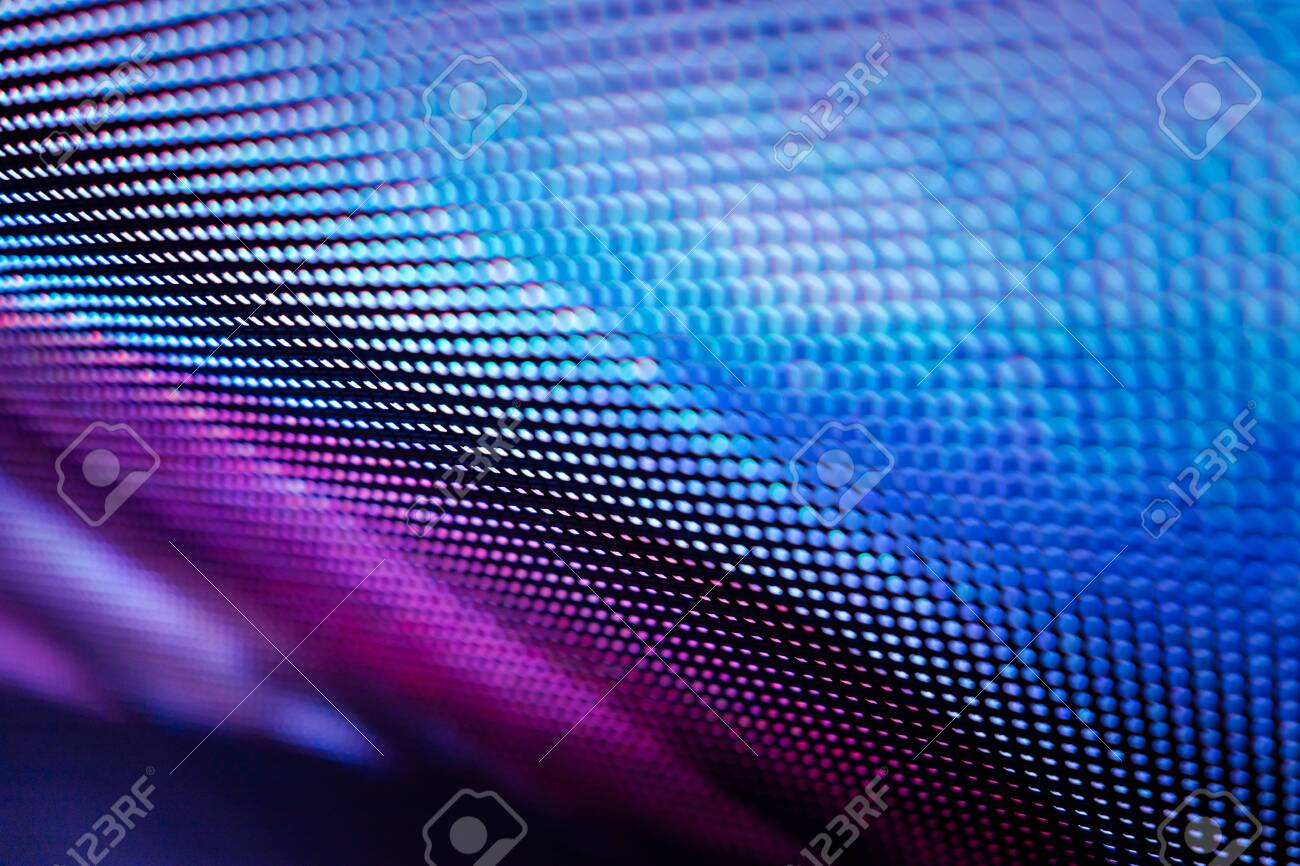 CloseUp LED blurred screen. LED soft focus background. abstract background ideal for design. - 131977252