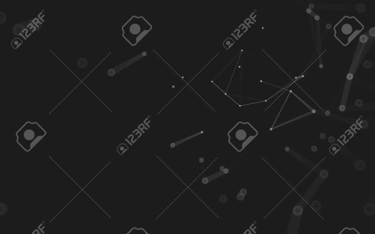 Abstract background. Molecules technology with polygonal shapes, connecting dots and lines. Connection structure. Big data visualization. - 150213106
