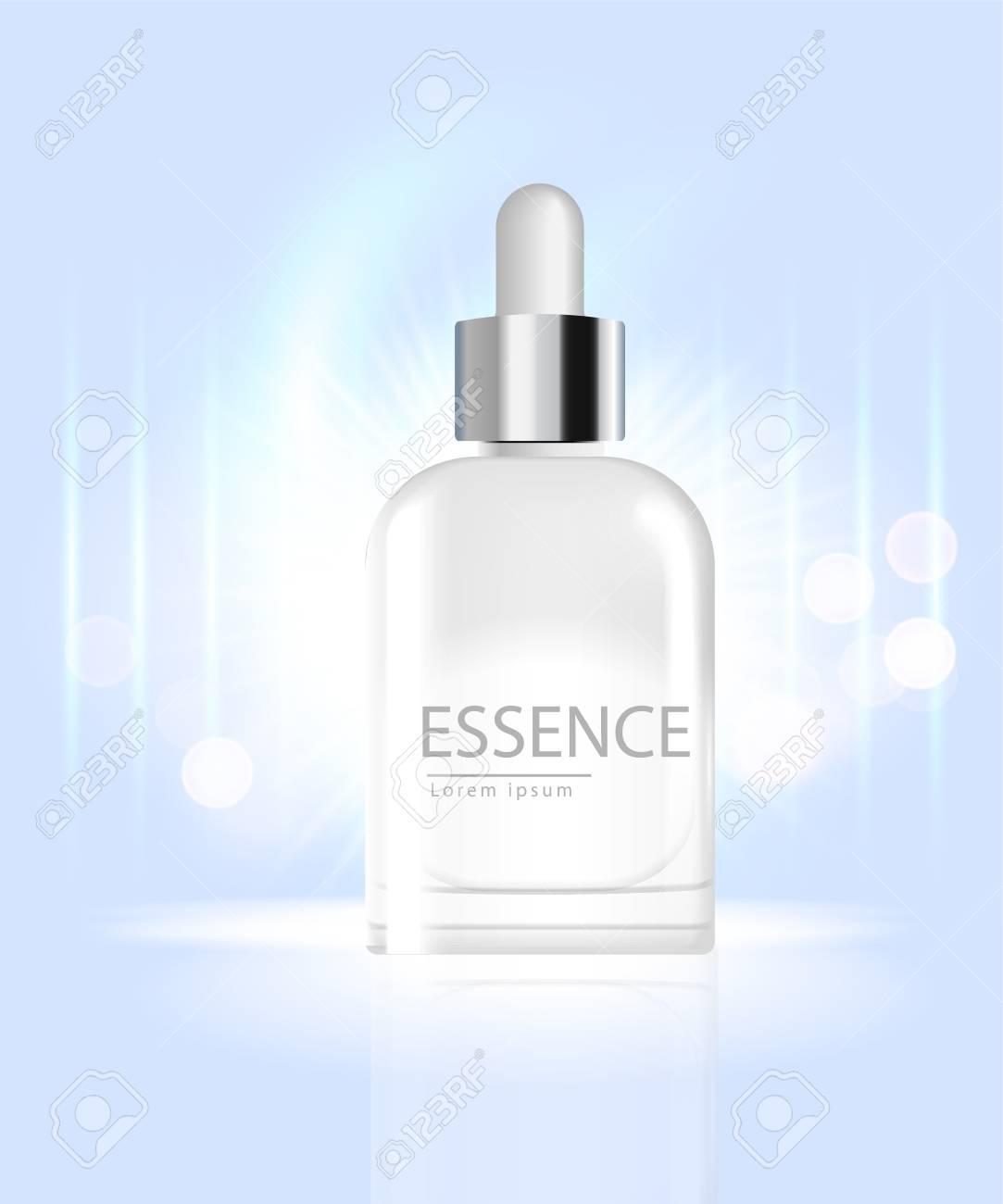 Facial Treatment Essence Skin care Beautiful on a dark blue background. - 109626423