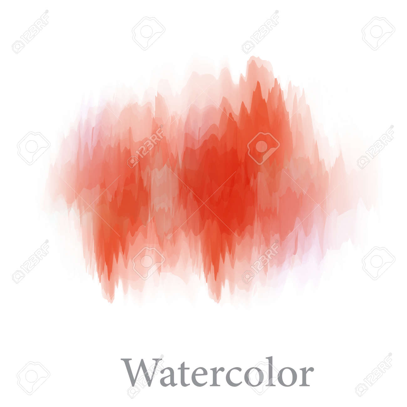 Abstract watercolor hand paint texture, isolated on white background, vector - 125660855