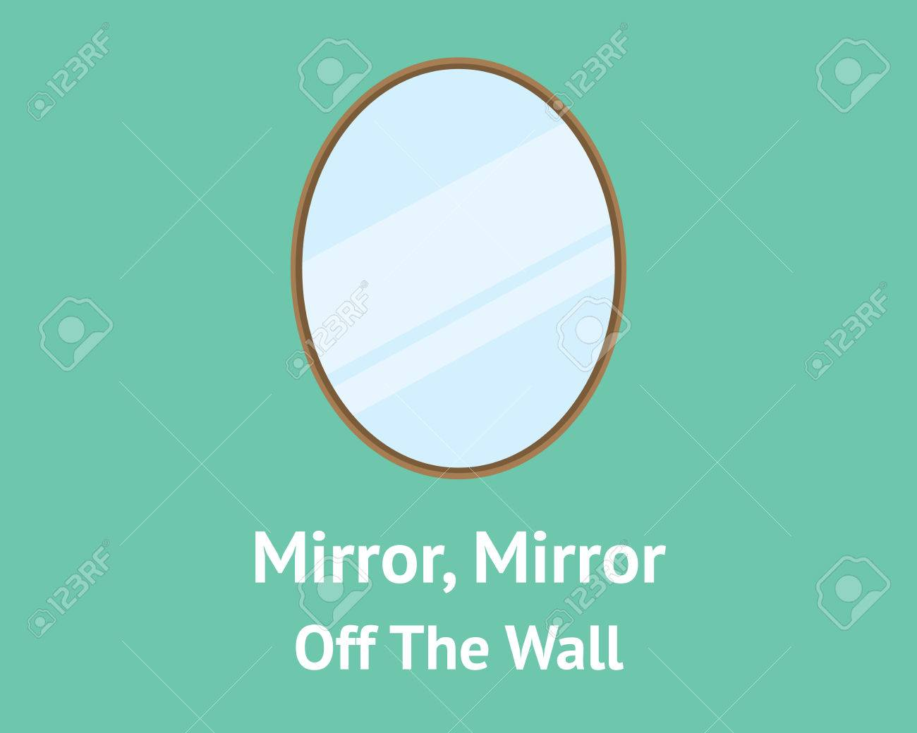 Mirror Mirror On The Wall Quote | Mirror Mirror Off The Wall Quotes Concept With Mirror Isolated