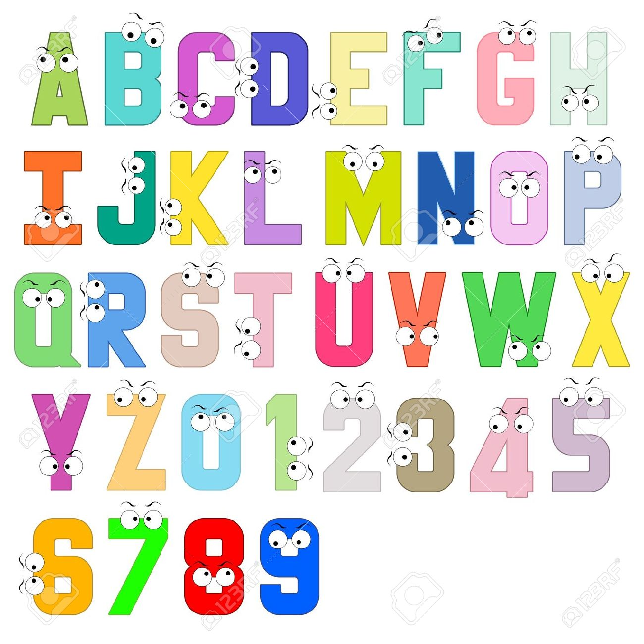 stock photo colorful alphabets block letter