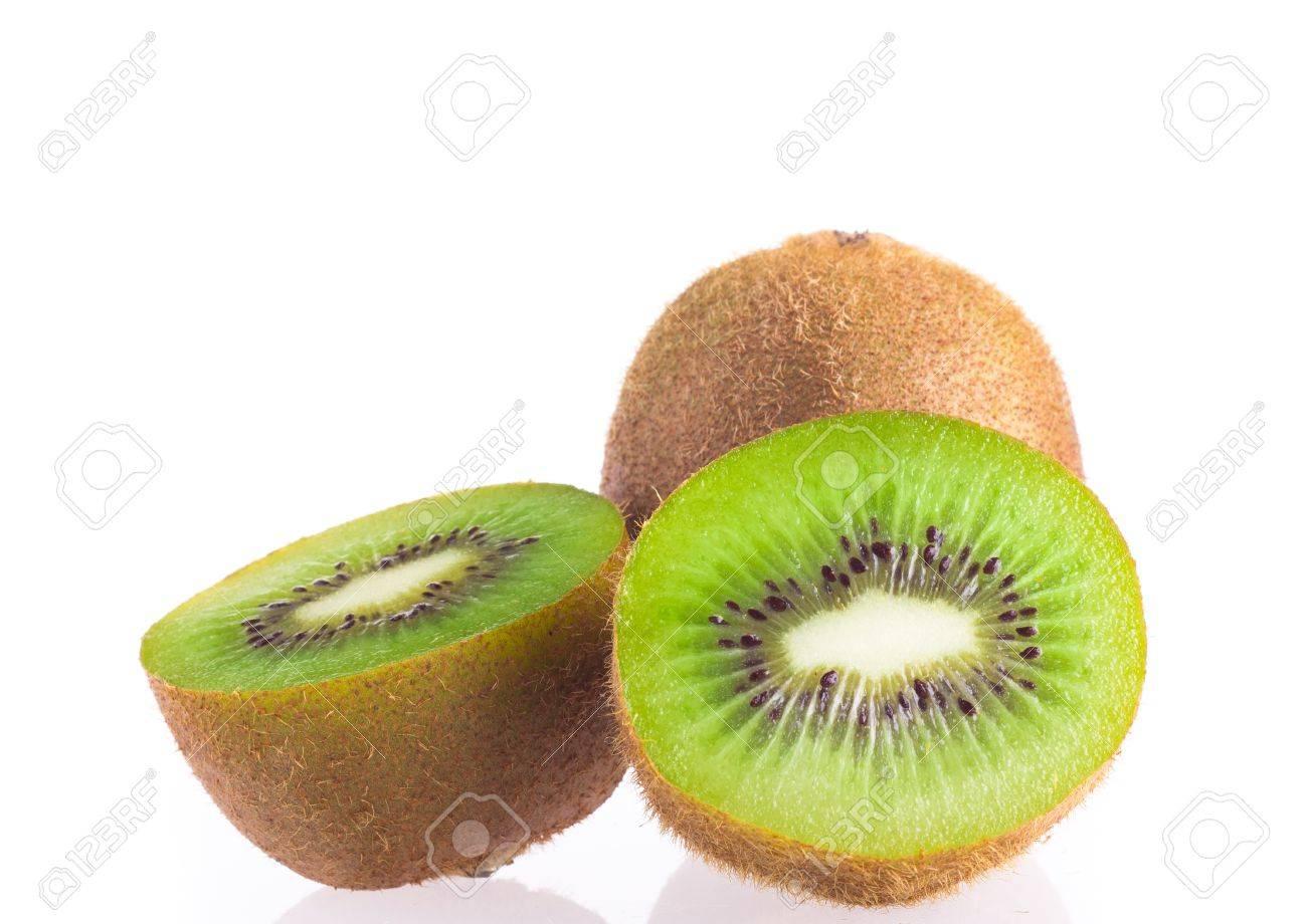 Kiwi fruit on a white background - 12475150