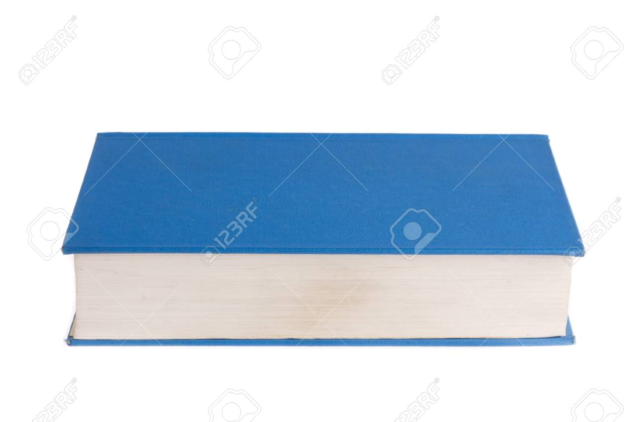 Blue book isolated on white background Stock Photo - 13600768