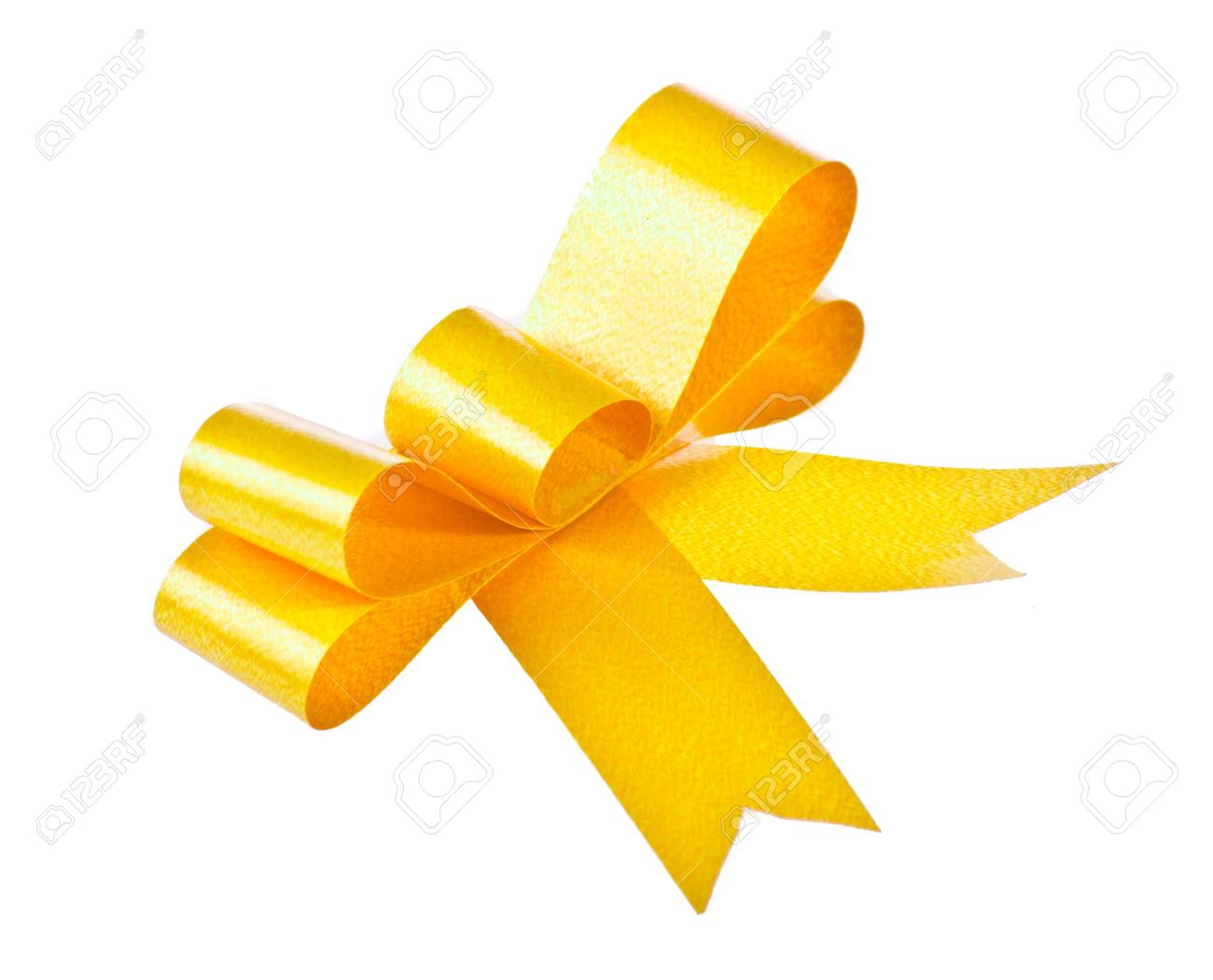 Yellow bow isolated on white background Stock Photo - 15957675