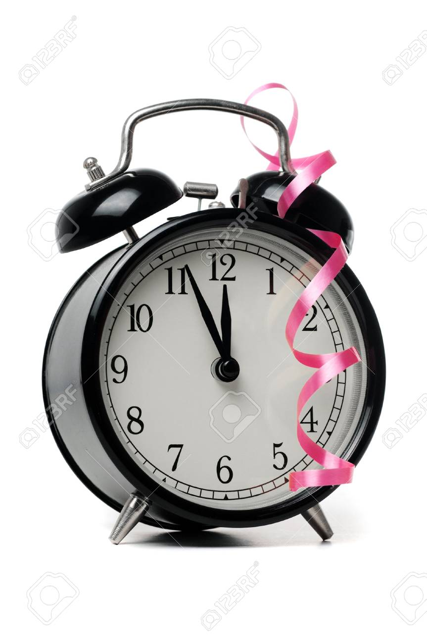 Alarm clock isolated on a white Stock Photo - 5836782
