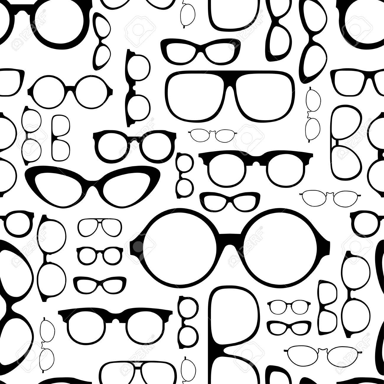 seamless pattern from glasses Stock Vector - 19189561