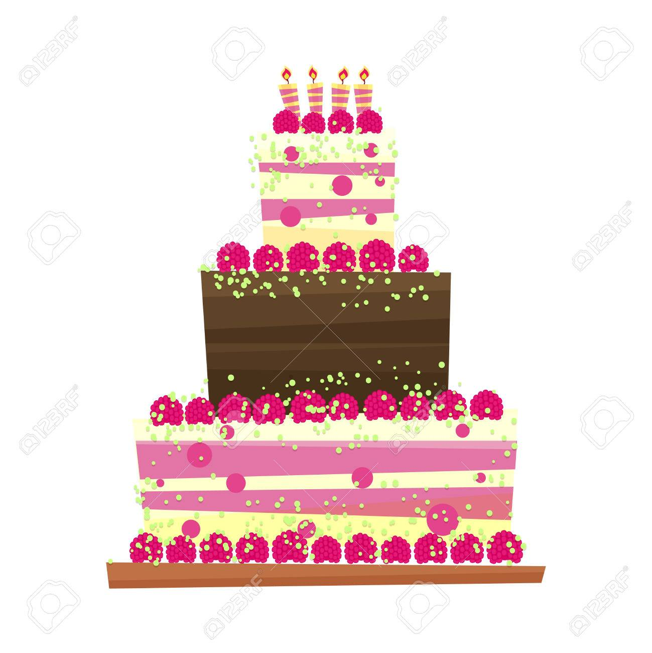 Birthday or wedding cakertoon style sweet isolated on white birthday or wedding cakertoon style sweet isolated on white background international day of biocorpaavc Image collections