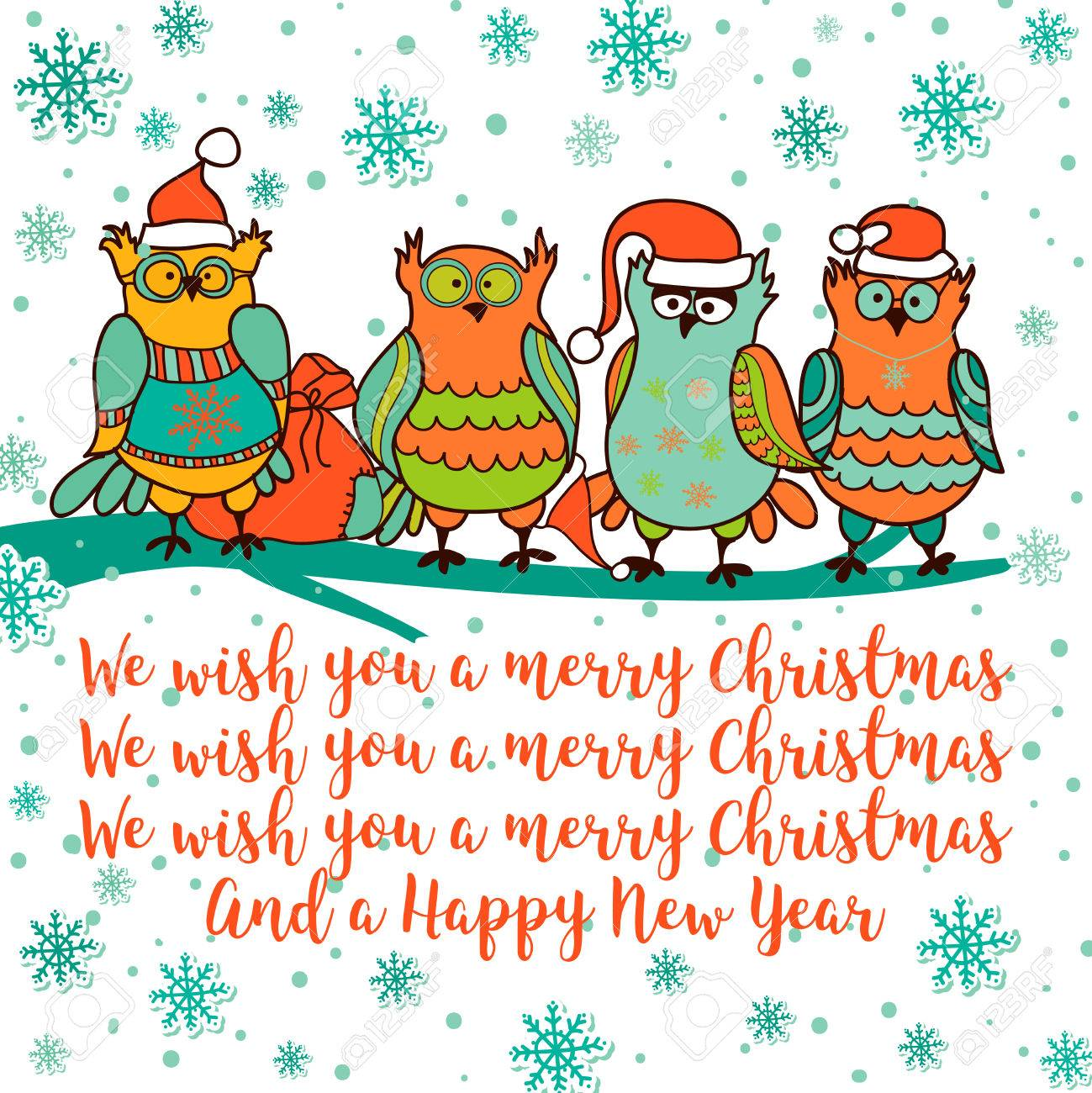 We Wish You A Merry Christmas And Happy New Yeareeting Card