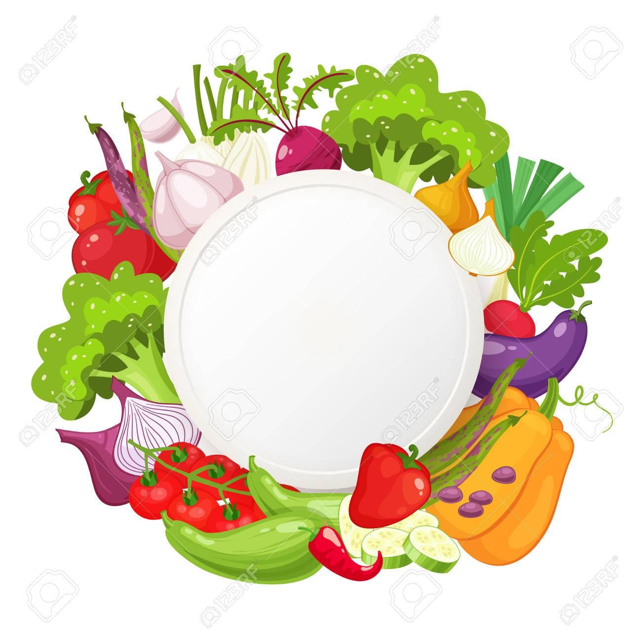 Vehículos Saludables Y Comida Vegetariana Ronda Banner Comida