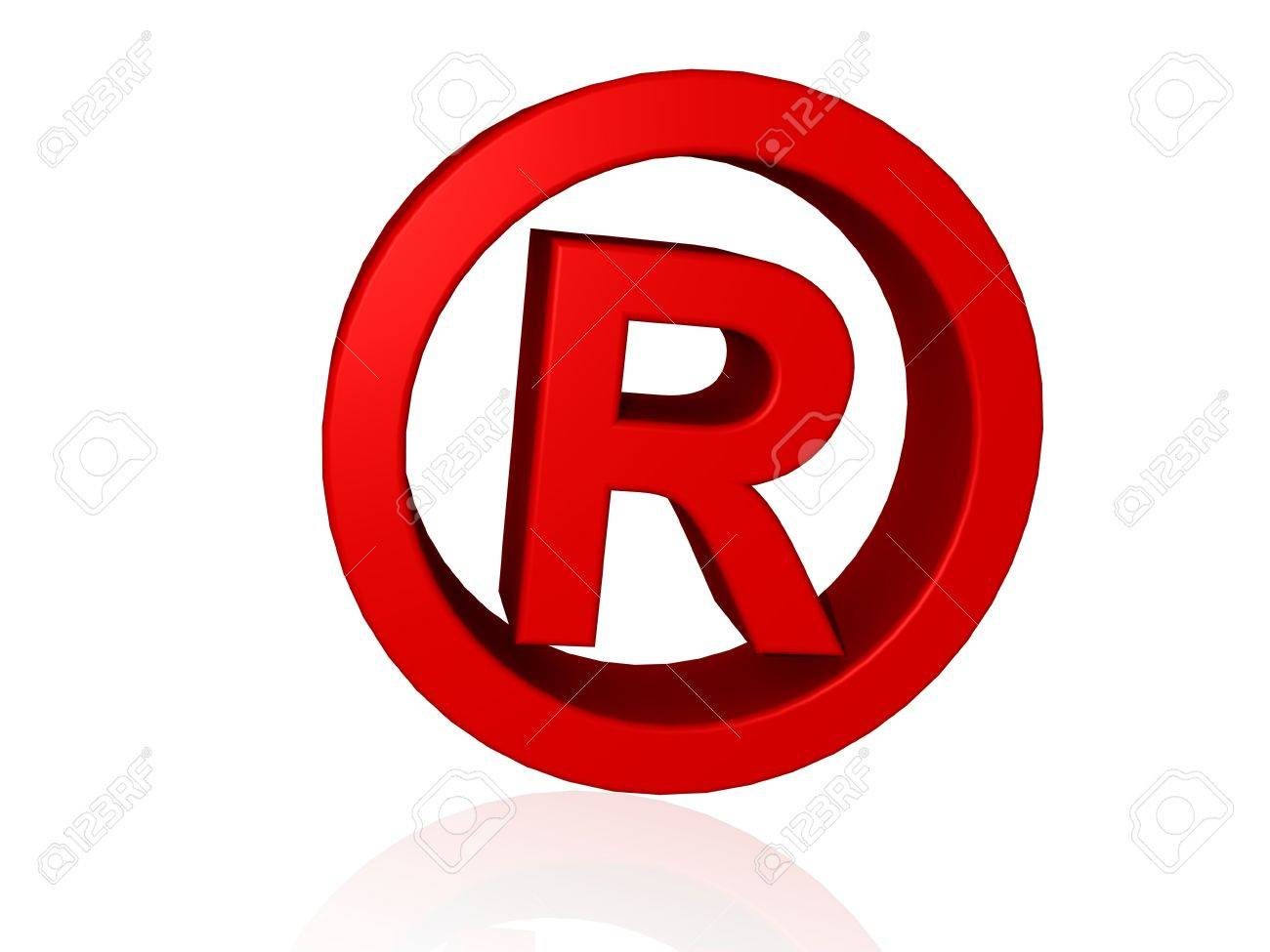 Registered Trade Mark Symbol In 3d Stock Photo Picture And Royalty