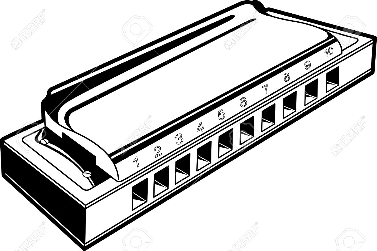 harmonica in black and white lines royalty free cliparts vectors rh 123rf com harmonica clipart free