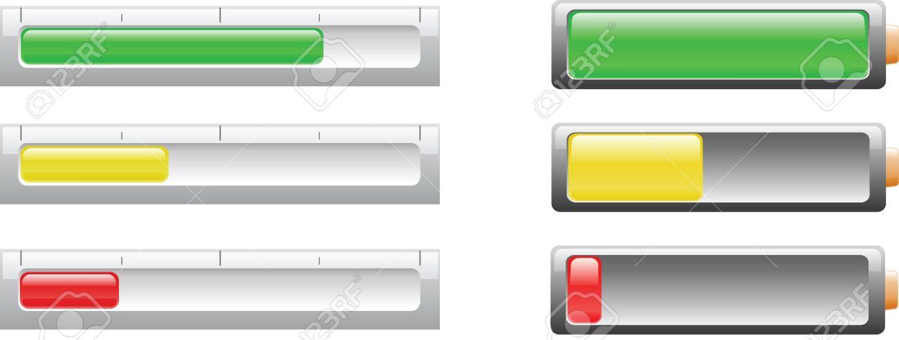 Power Bar Und Batterie-Symbol Verwendet, Um Die Leistung Der ...