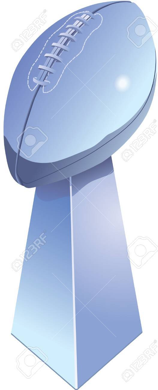 Chromed football trophy, isolated with white background. Stock Vector - 11275286