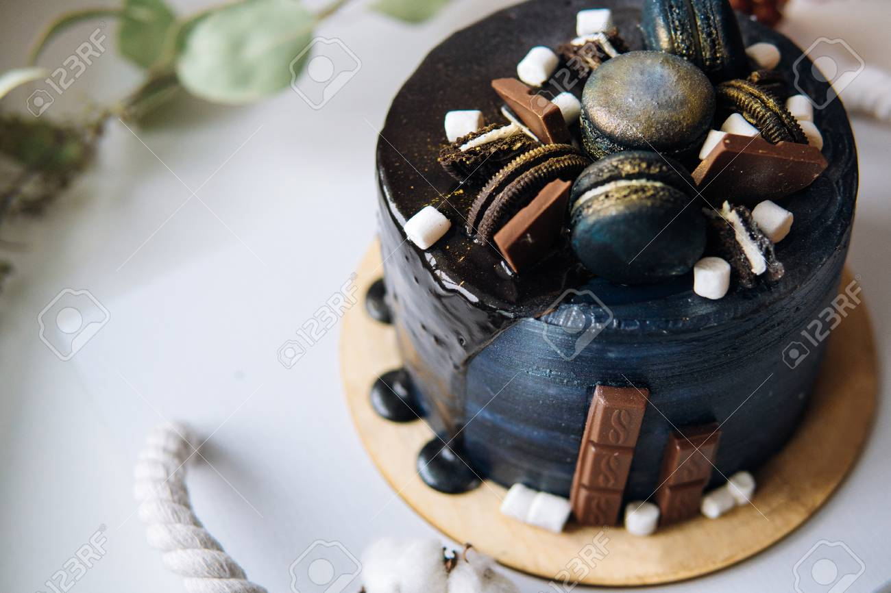 Beautiful Designer Chocolate Cake Stock Photo Picture And Royalty