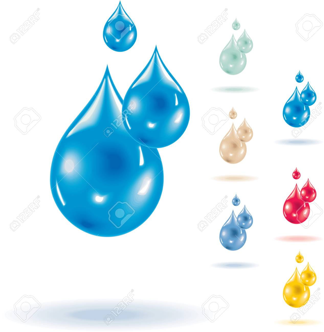 Vector macro waterdrops Stock Vector - 4220836