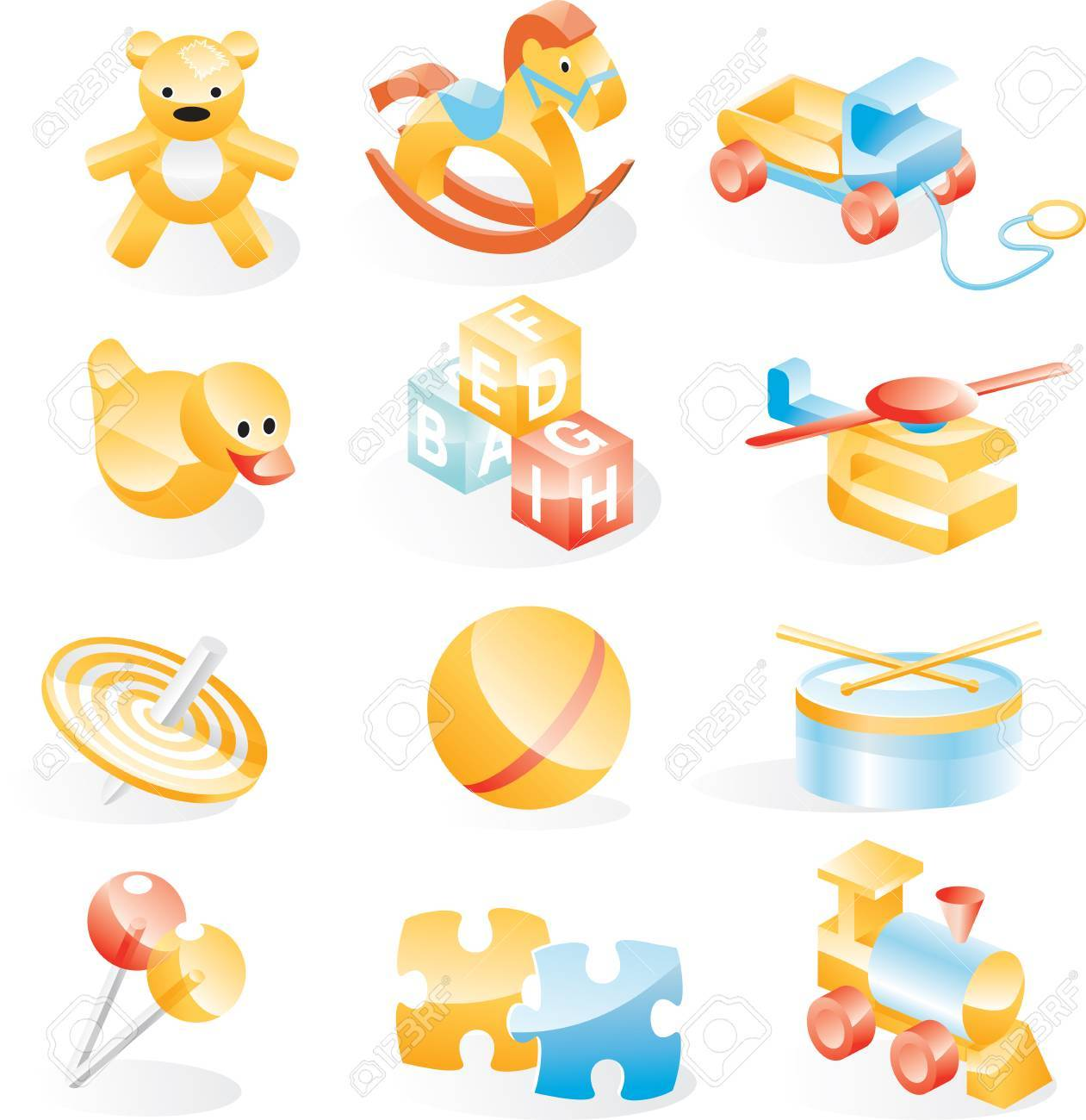 Toys icon set Stock Vector - 4397244