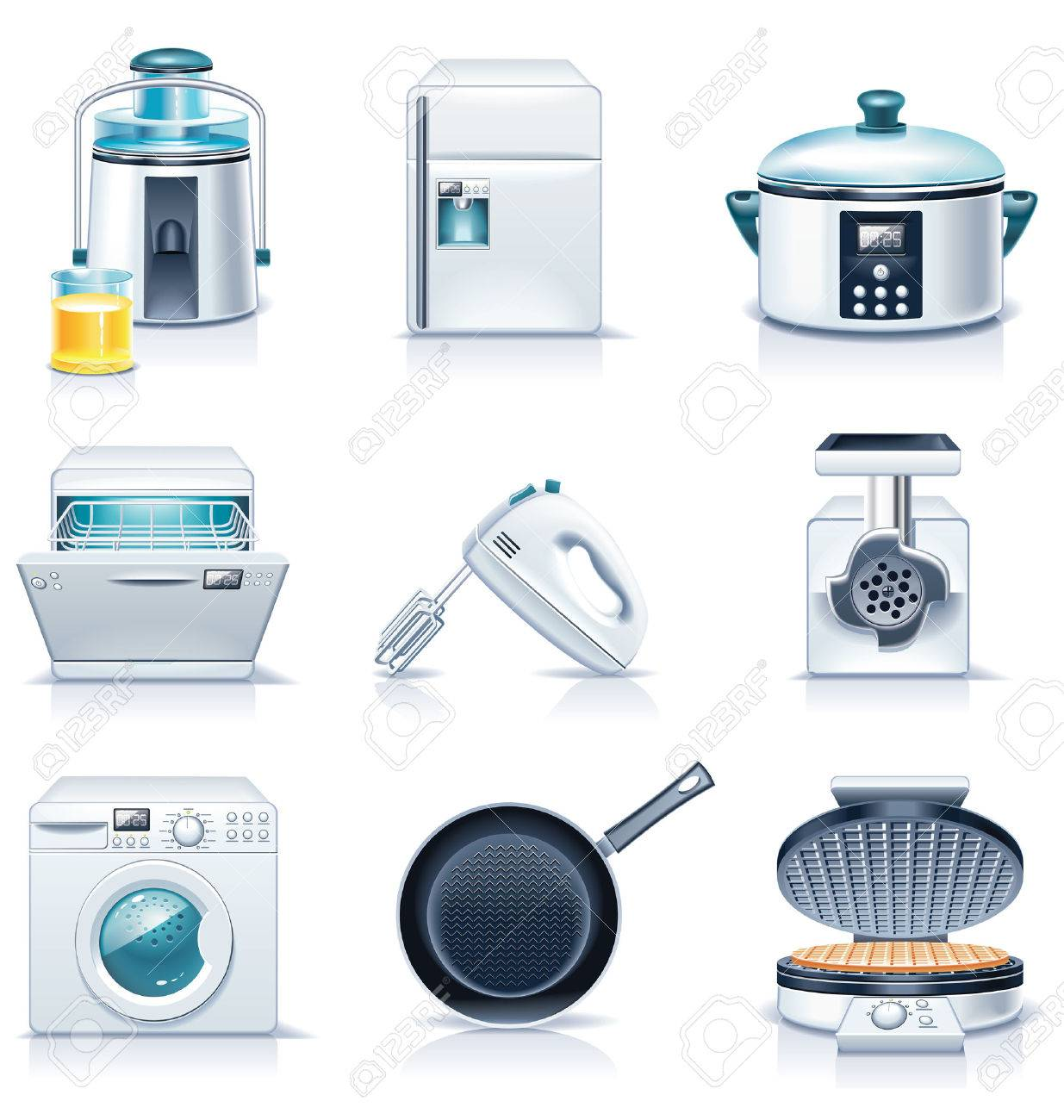 Vector household appliances icons. Part 3 Stock Vector - 5954106