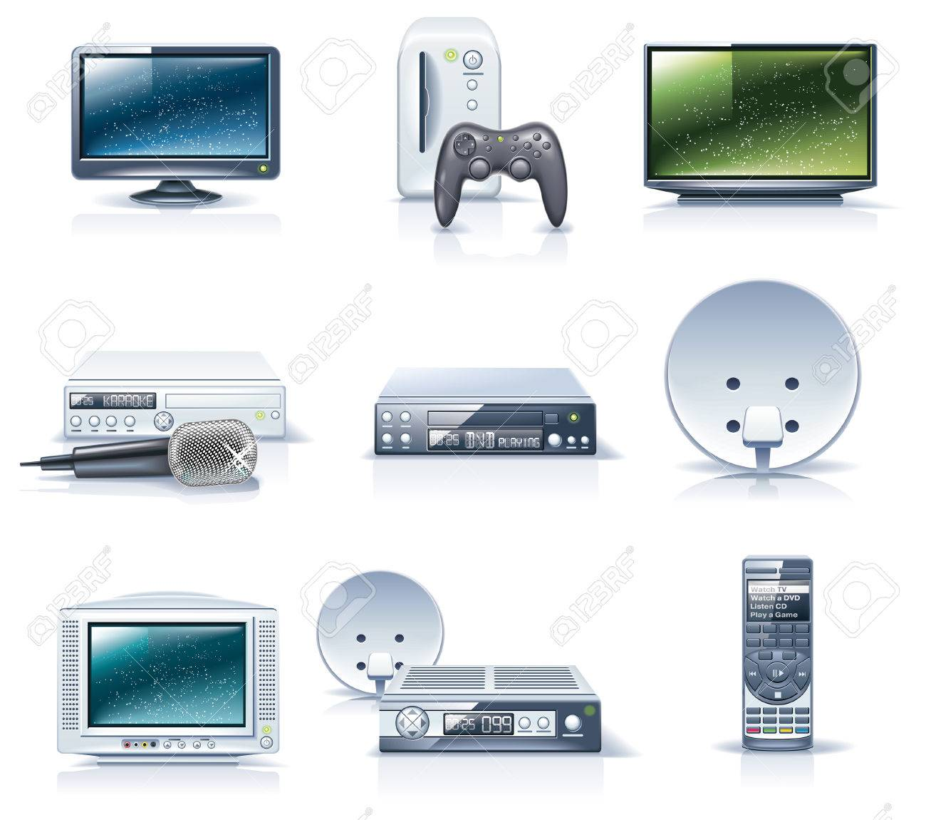 Vector household appliances icons. Part 6 Stock Vector - 6003533