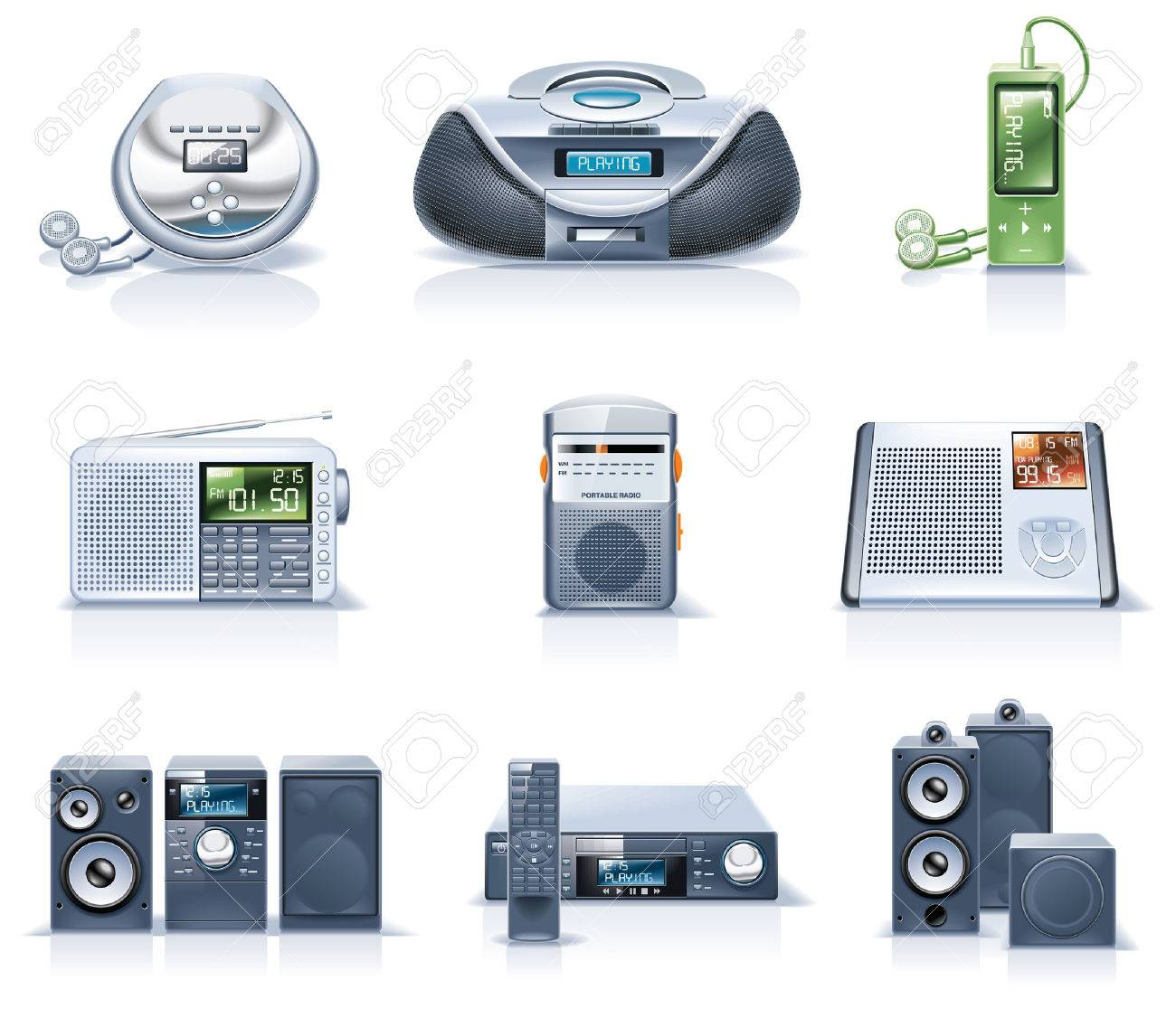 Vector household appliances icons. Part 8 Stock Vector - 6003537