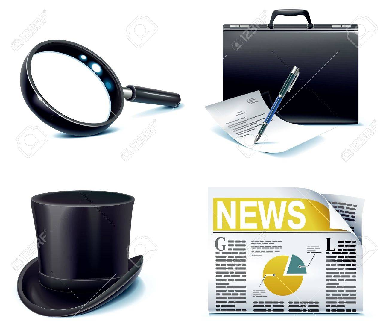 office icon set. Part 7 Stock Vector - 6860355