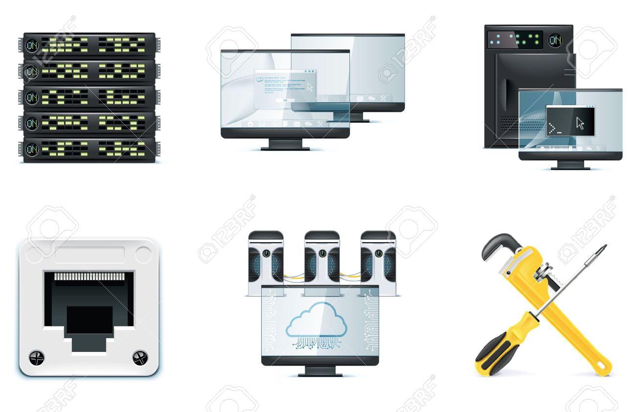 Computer icon set. Part 2 Stock Vector - 7043387