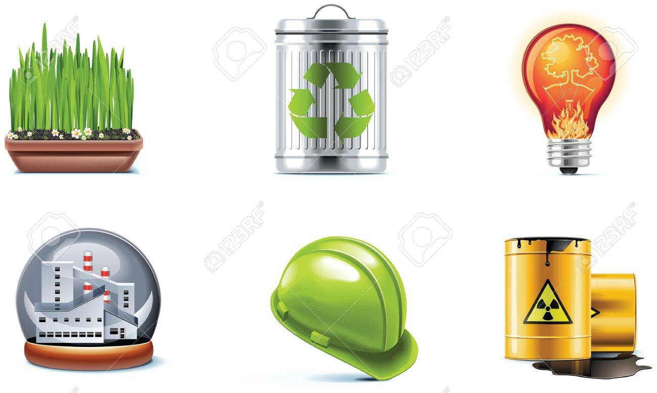 ecology icon set. Part 2 Stock Vector - 7499832