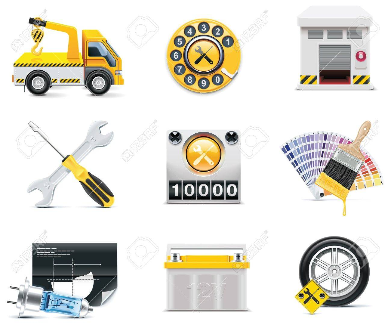Car service icons. Stock Vector - 8116629