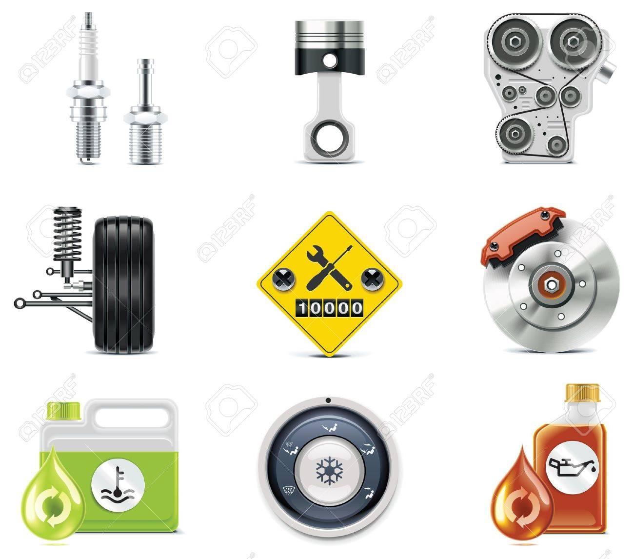 Car service icons. Stock Vector - 8116628