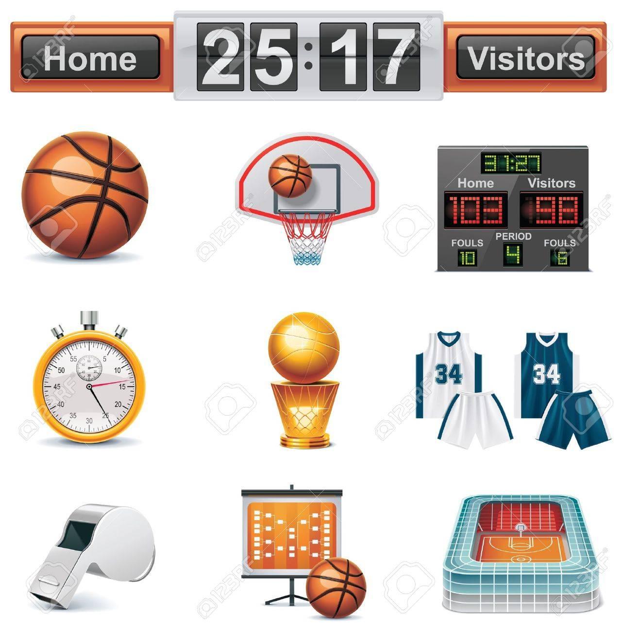 Vector basketball icon set - 8513333