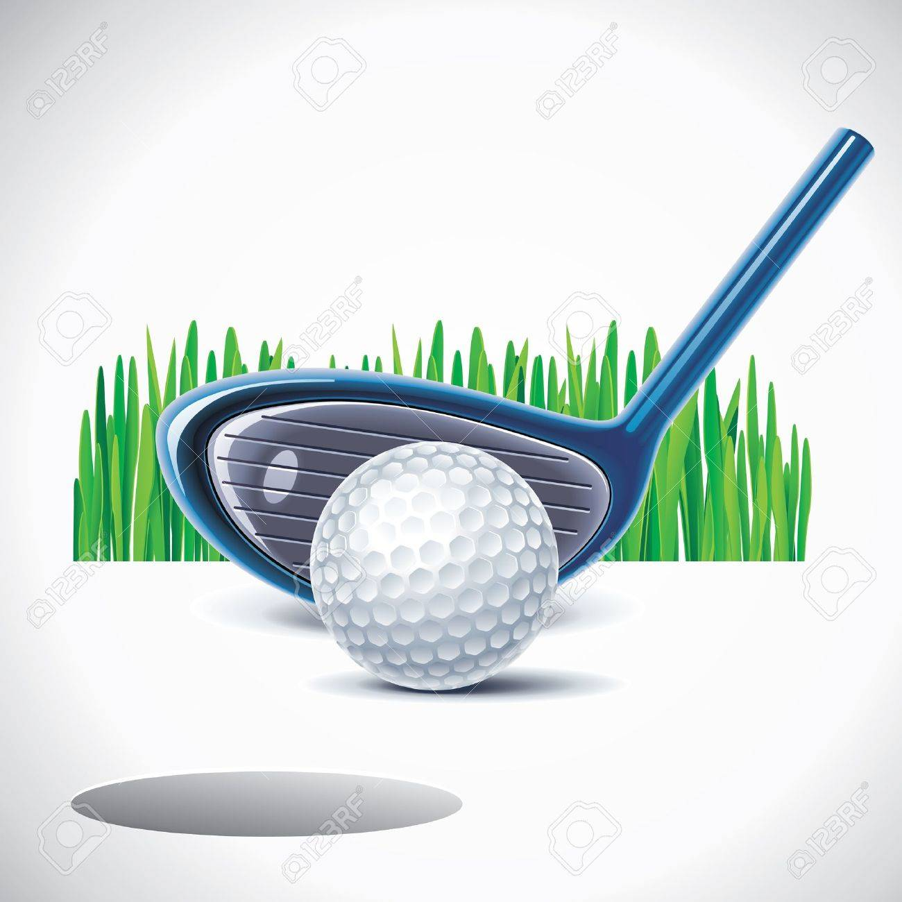 golf club with ball Stock Vector - 8678801
