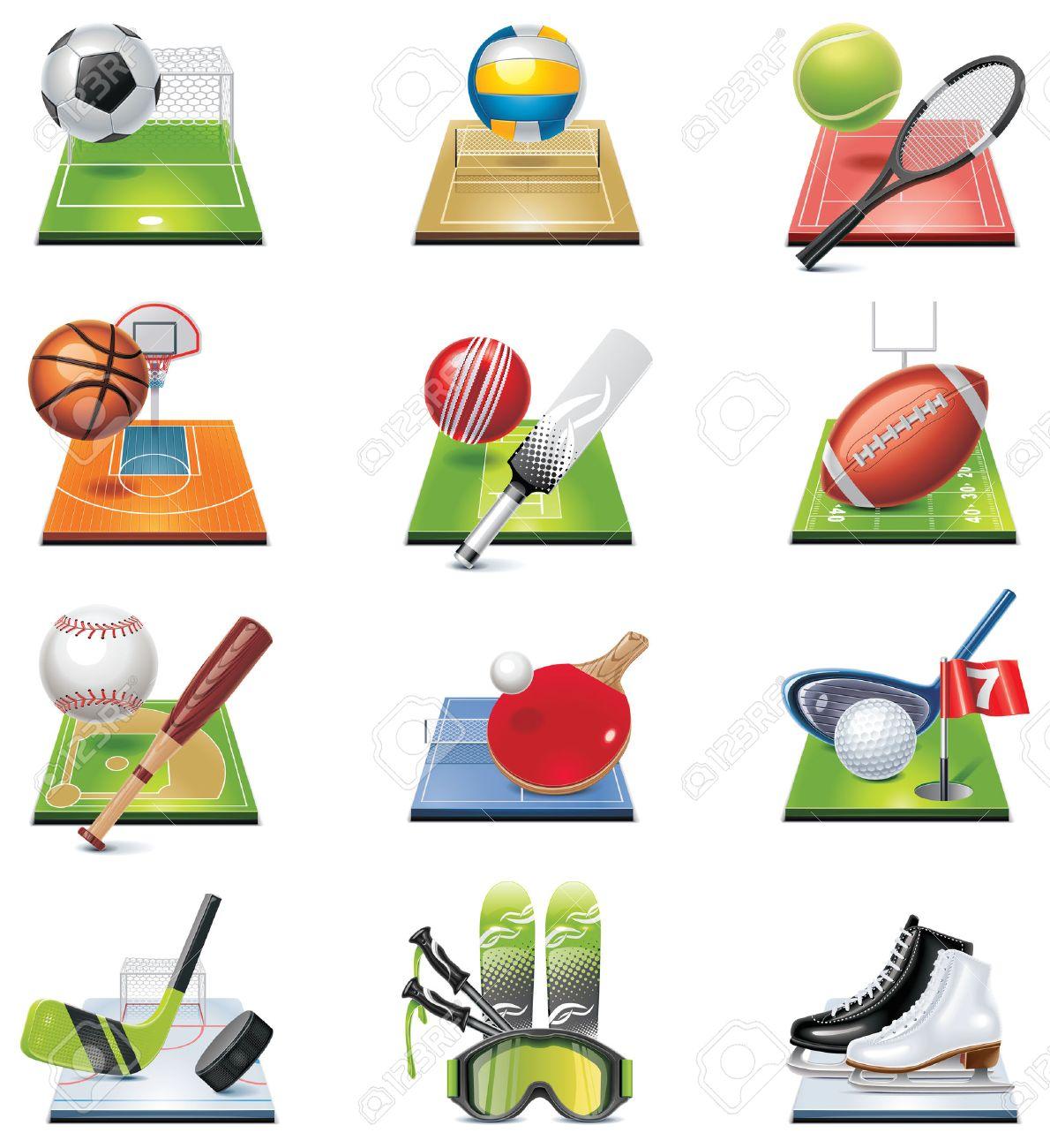 sport icon set Stock Vector - 8770490