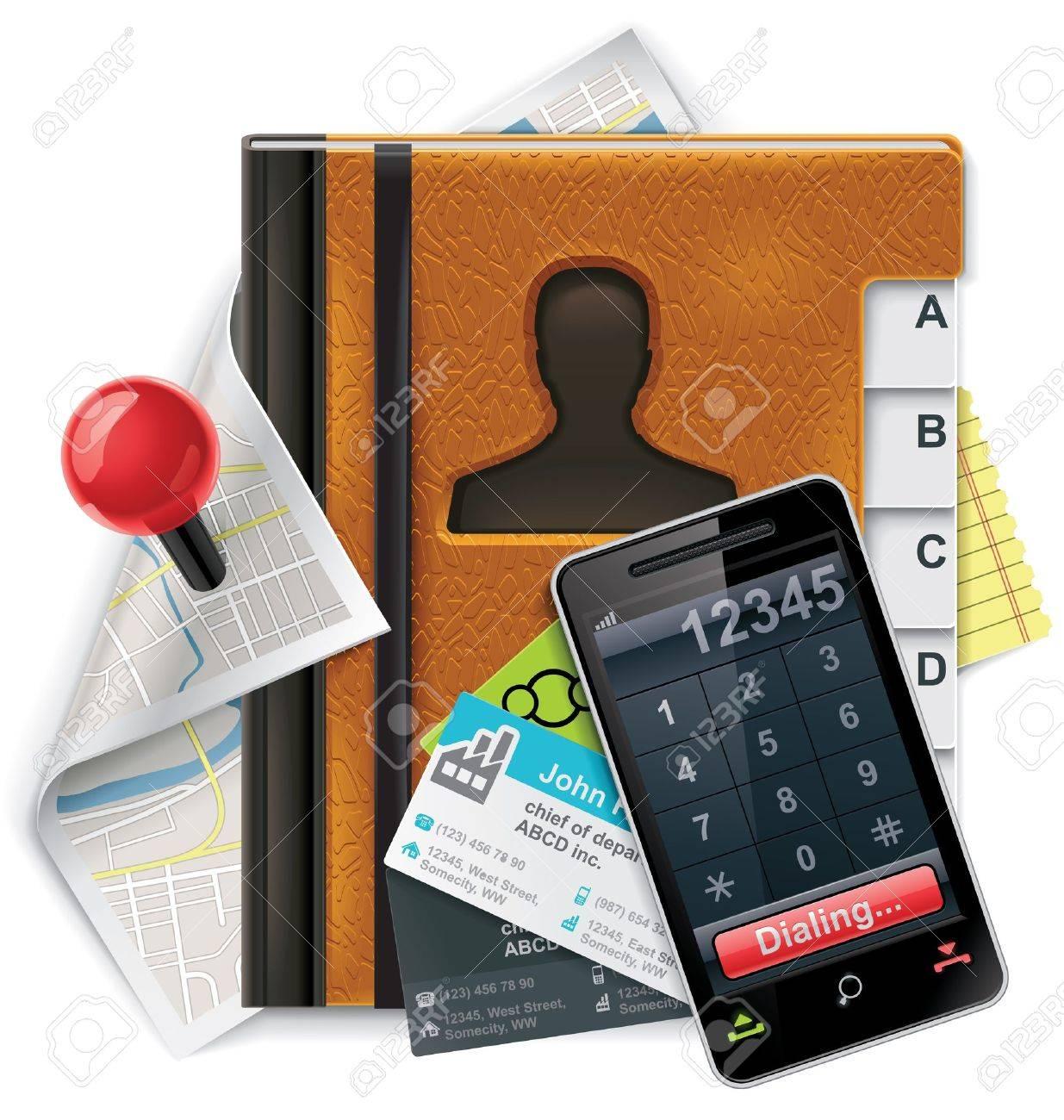Vector address book XXL detailed icon Stock Vector - 9162205