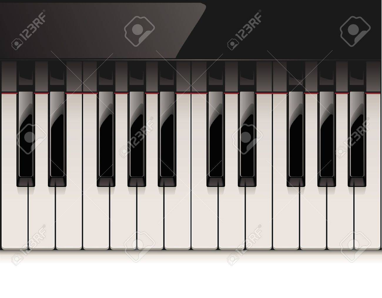 detailed piano keyboard Stock Vector - 9548649