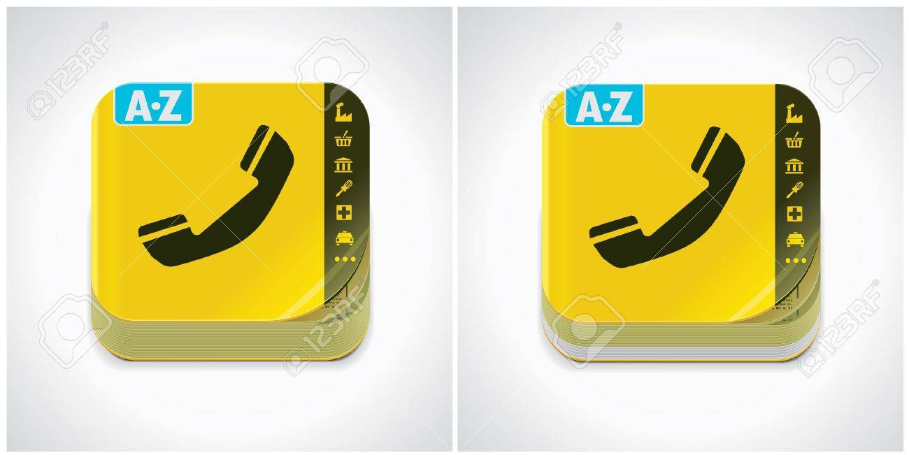 Yellow Pages Icon yellow phone book icon