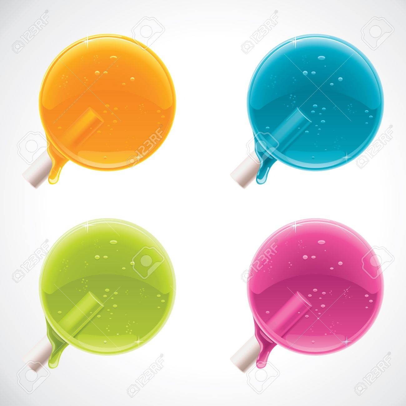 colorful lollipops Stock Vector - 11073692